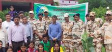 Plantation along with ITBP Cadets